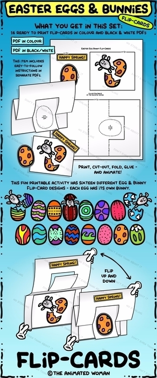 Easter Eggs Bunnies 16 Flip-car - theanimatedwoman | ello