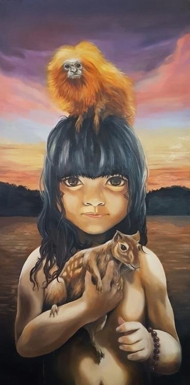 Indigenous Child Animals Manaus - icastro   ello