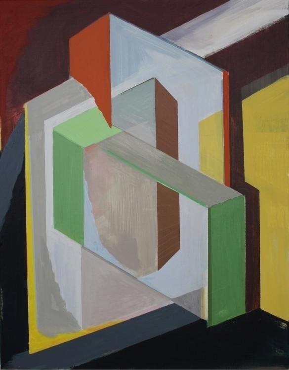 Compositie 31 90x70 cm - painting - rolandaalbers | ello