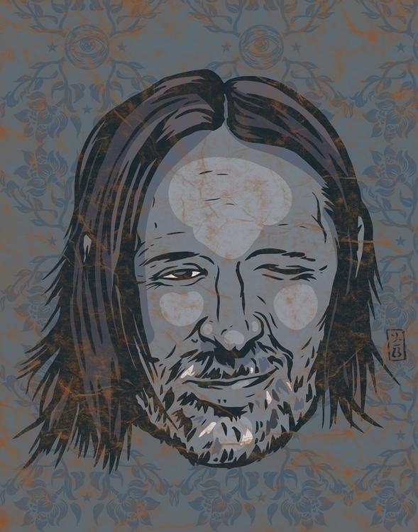 Thom Yorke - illustration, music - thomcat23 | ello