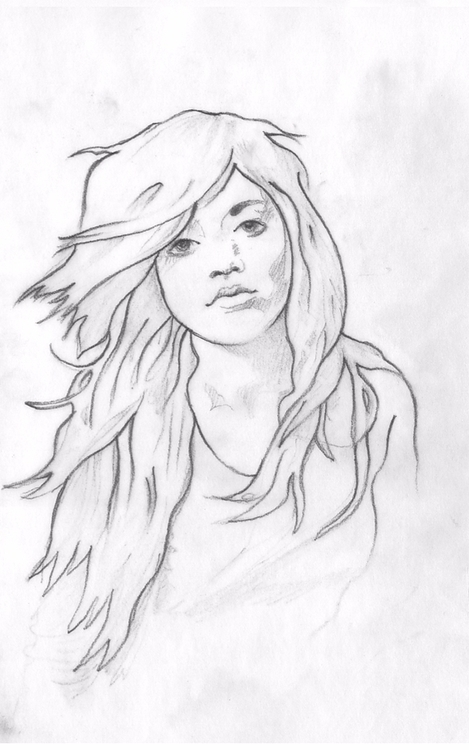 Hair - illustration, drawing, art - rivasinge   ello