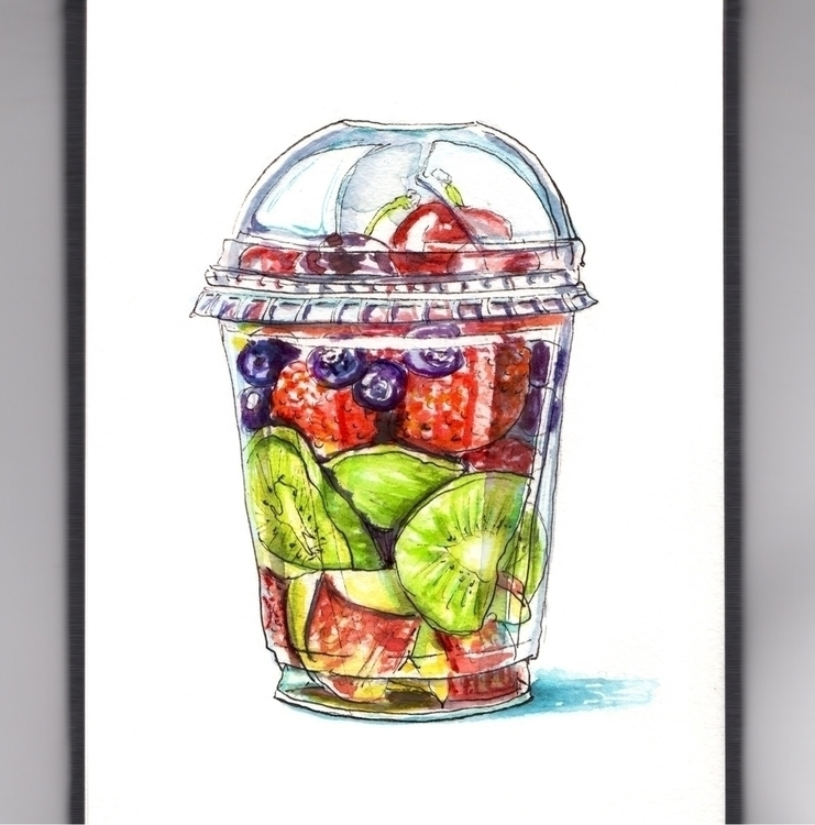 FRUIT SALAD - watercolor, watercolour - doodlewash | ello