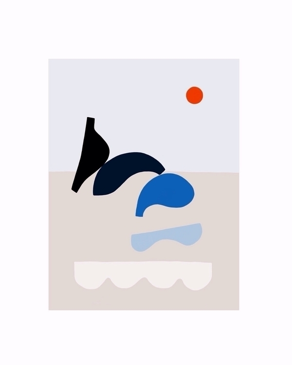 Waves - abstract, minimalism - jyxchen | ello