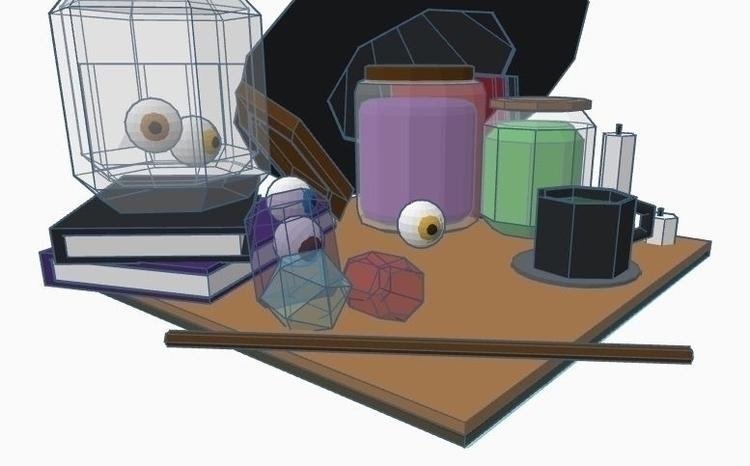 WIFT Project 3D Modeling desk l - ramorris   ello