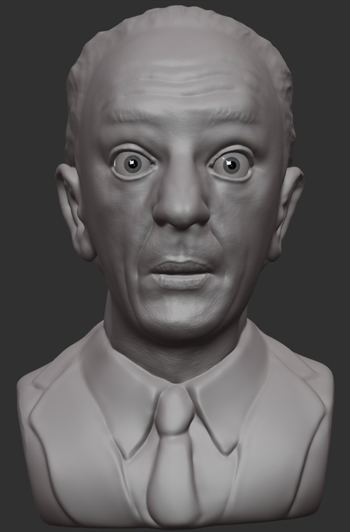 unfinished sculpt Don Knotts. p - mrpopcornbag | ello