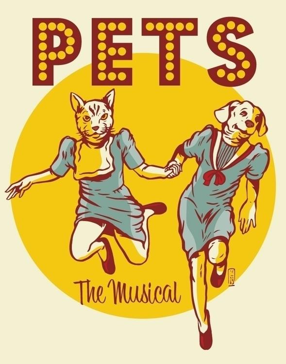 Pets, Musical - illustration - thomcat23 | ello