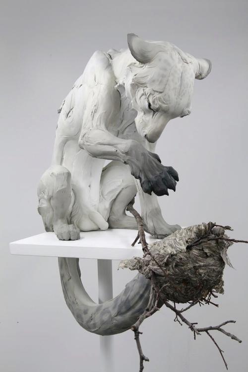 Beth Cavener Sculpture   Forgiv - ronbeckdesigns   ello
