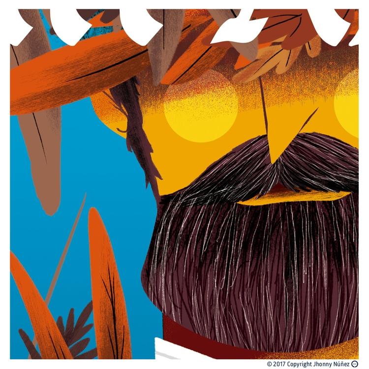 Cover illustration - JhonnyNúñez - dblackhand | ello