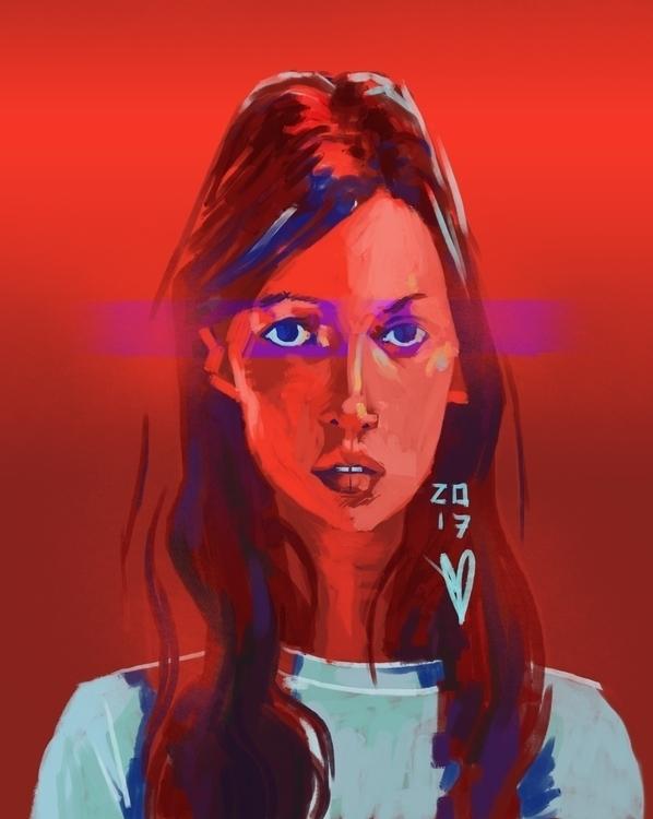 2017.4 Kate Moss –– Red - speedpaint - evandileo   ello
