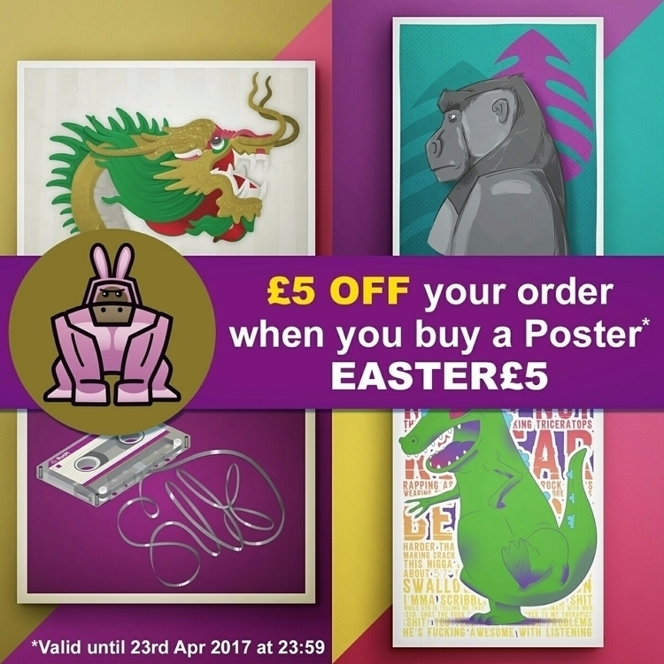 Treat Easter £5 buy poster - co - riseofthemonkey | ello