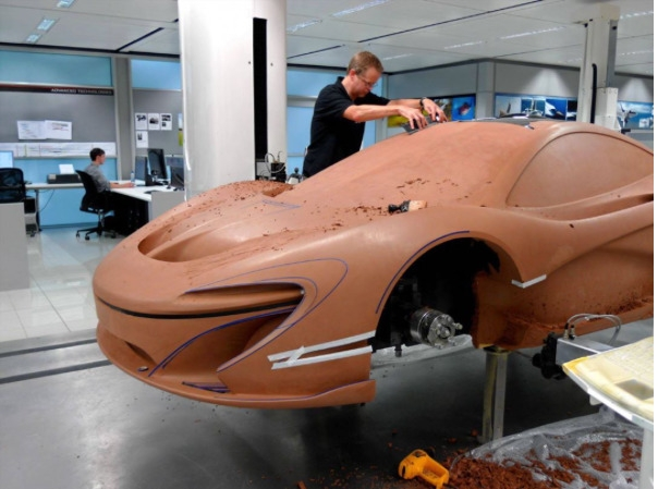 McLaren P1 clay model. Image - designprocess - letsdesigndaily | ello