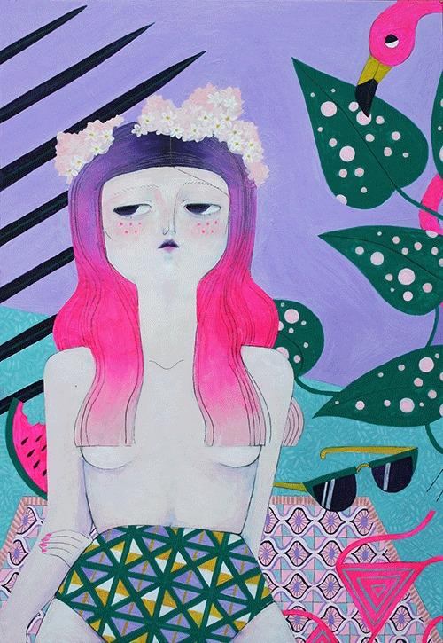 Summertime - painting - lanonette | ello