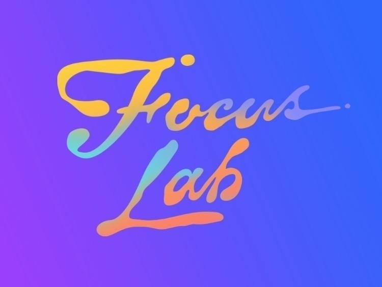 typography, focuslab, lettering - lerinchase | ello