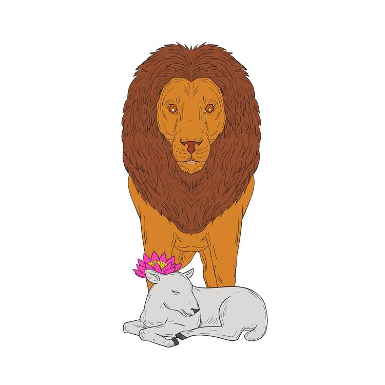 Standing Flower - Lion, Lamb, Lotus - patrimonio | ello