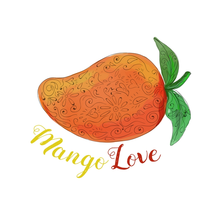 Watercolor - Mango, Love, Fruit - patrimonio | ello