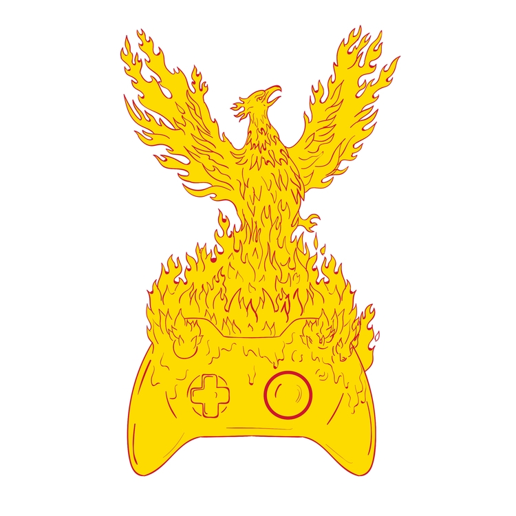 Rising Fiery Game - Phoenix, Flames - patrimonio | ello