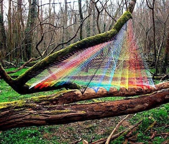 TREES. | - outdoorart, nets, knitting - quietlunch | ello