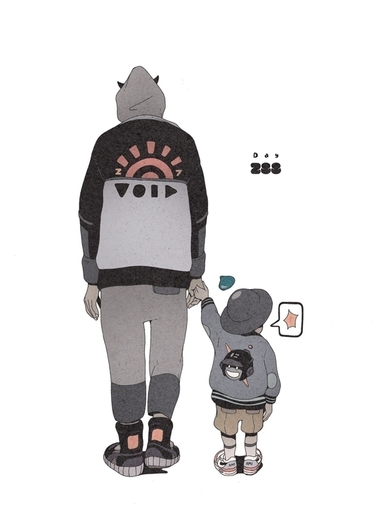 Day 288/365: Sun Son - illustration - 1sles | ello