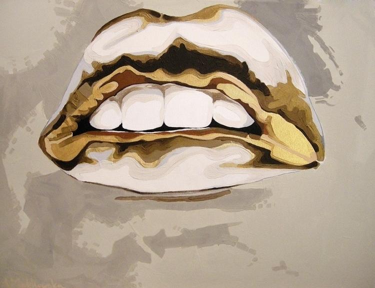 Kiss Anna Malikowska. Acrylic c - dicky-v | ello