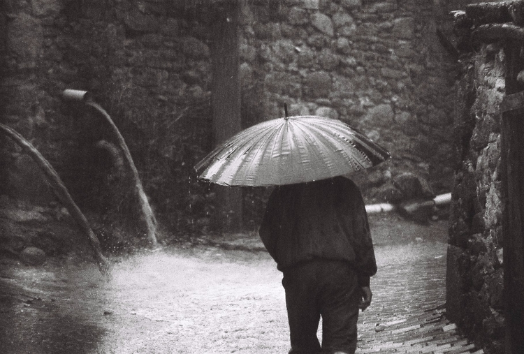 man rain - photography, blackandwhite - okandemip | ello