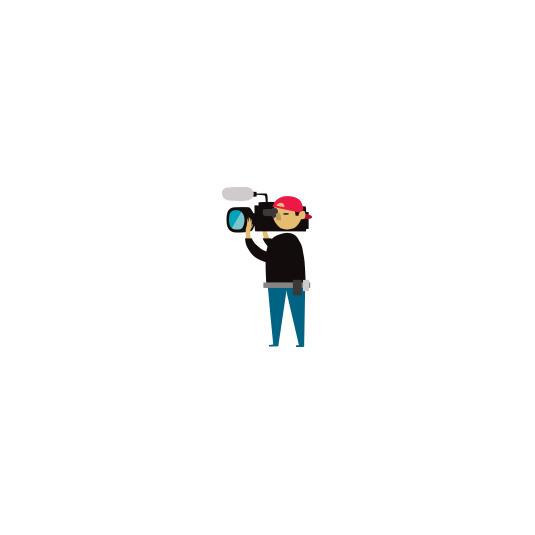 news camera operator - illustration - ebencom | ello