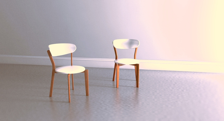 Minimal chair design. Modelled  - pask | ello