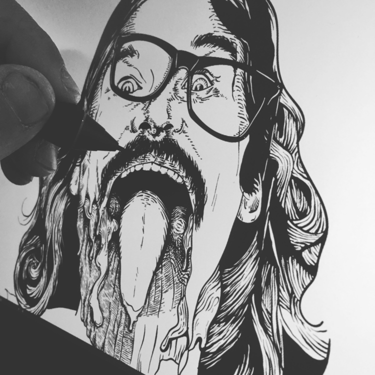Horror influenced merch design  - ricky_thomas | ello