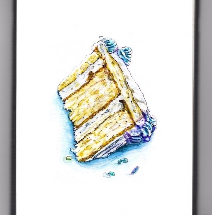 Birthday Treats - watercolor, watercolour - doodlewash | ello