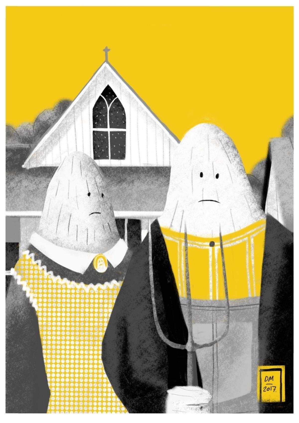 Yeti Gothic - illustration, art - doodlesmarc | ello