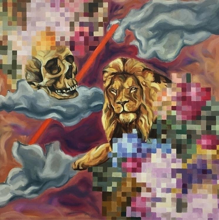world', oil paint canvas, 1 met - thomasvandermeulenart | ello