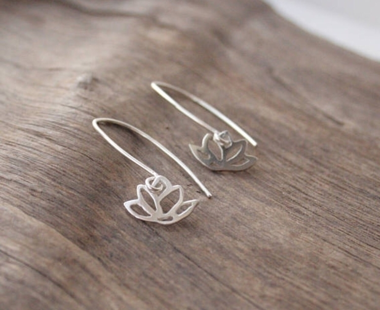 lotus dangle earrings hot bench - stacyccarmichael | ello