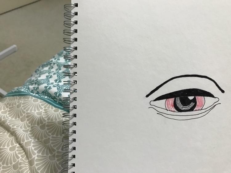 Obsessed drawings eyes bloodsho - mads_meyer | ello