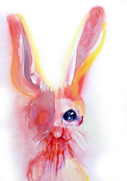 Artist - resist, edith-meijeriing#galeries#dutch#painter#easter#rabbit#bunny#workonpaper#@curator@galleries - poespas | ello