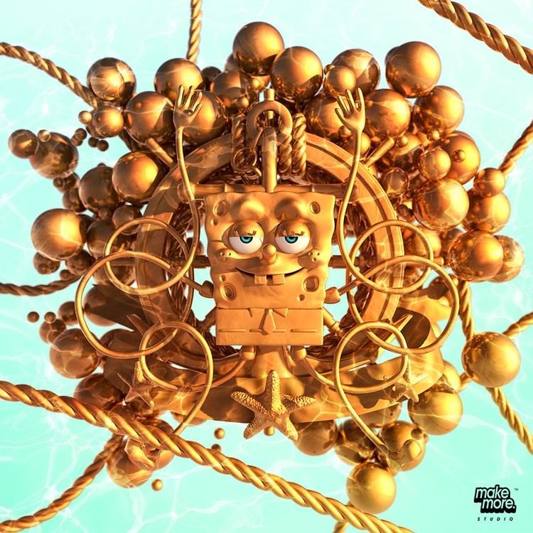 3D, ello3d, C4D, spongebob, nick - makemorestudio | ello