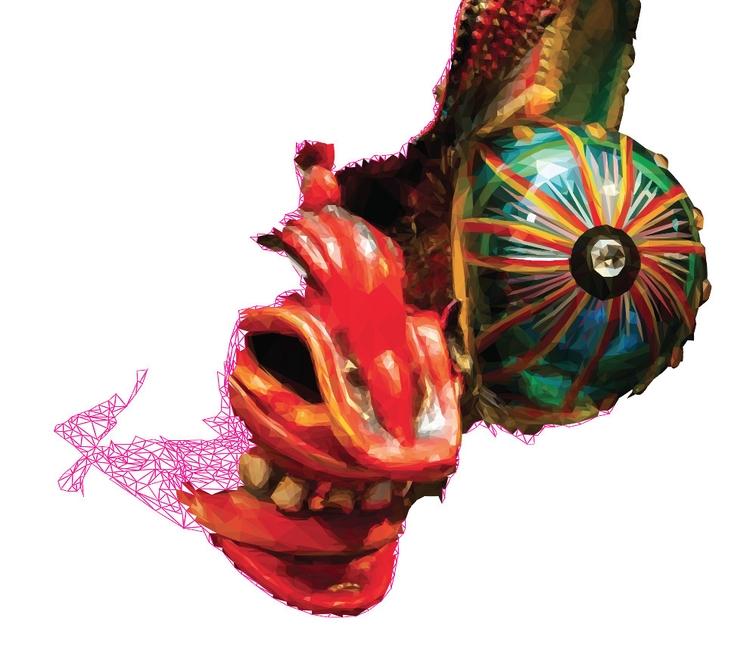 Rise devil - mask, peruvian, folklore - blackbones | ello