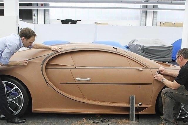 Bugatti Chiron clay model. Imag - letsdesigndaily | ello