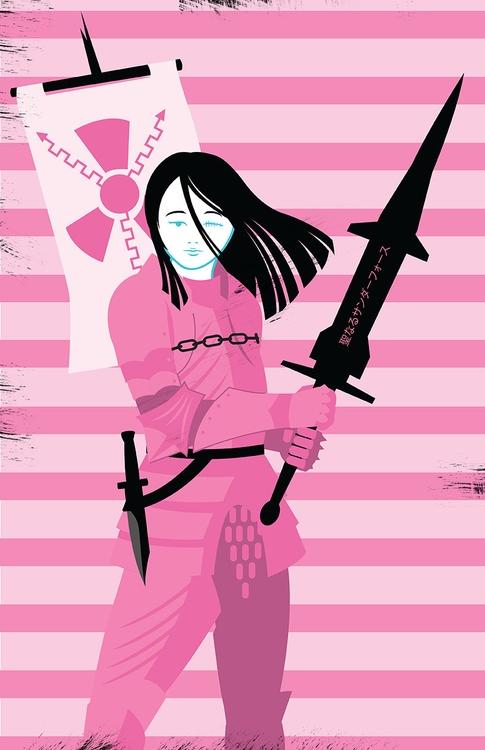 Modern Pink Knight - kentack | ello