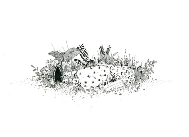 Ill lay minute - illustration, plants - mitsubishiufjfinancial   ello