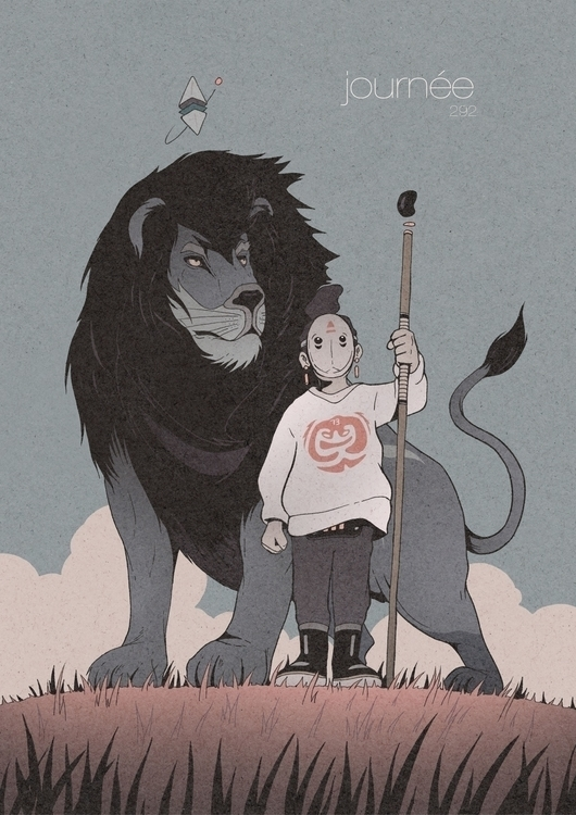 Day 292/365: Wondering Lions - illustration - 1sles | ello