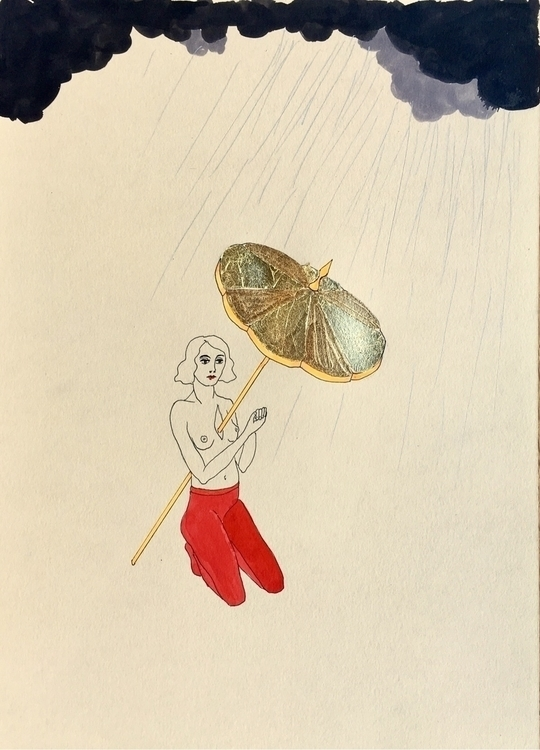 kunst, drawing, rainyday, woundedheart - lorettamae   ello