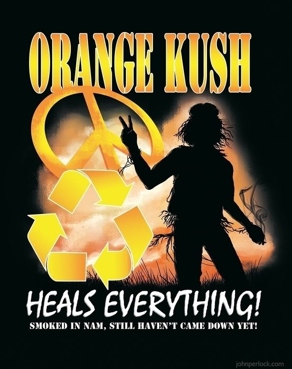 Orange Kush Heals Illustration  - johnperlock_illustrator | ello