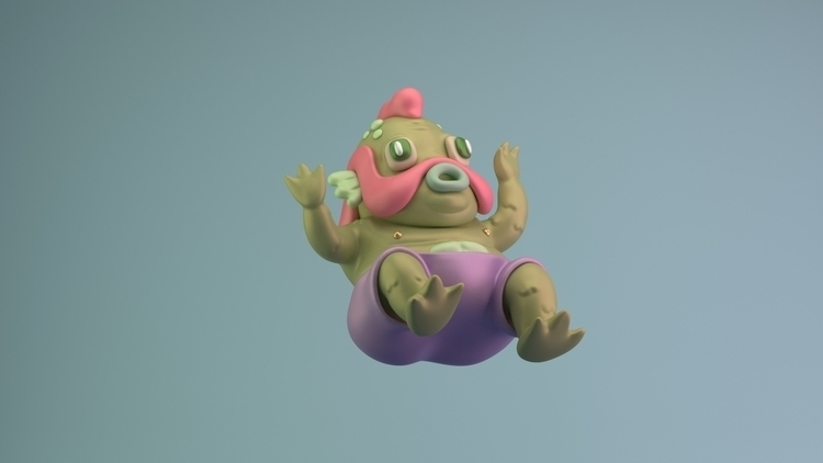 scared - 3d, model, character, design - renegadesofphong | ello