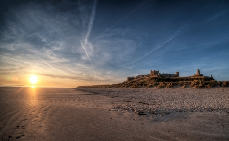 Dawn Bamburgh Beach, Northumber - neilhoward | ello