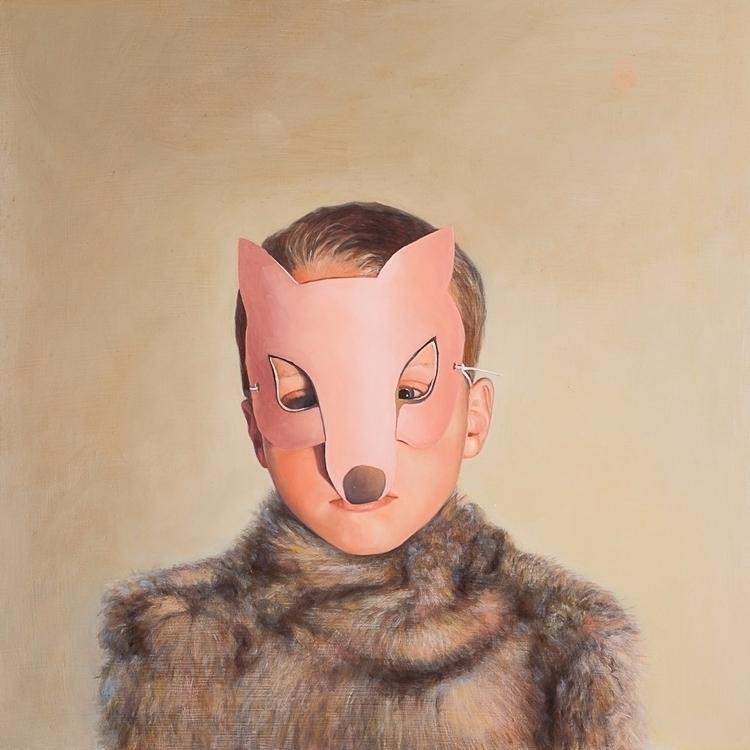 Wolf Boy, 2012, oil board, 40 c - rebeccahastings | ello