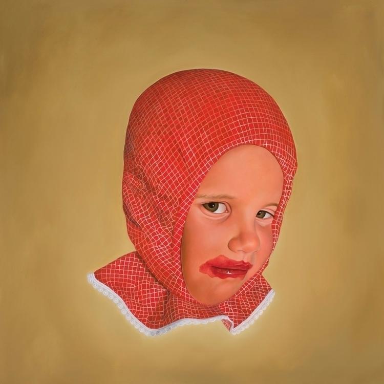 Bonnet, 2013, oil board, 100 cm - rebeccahastings | ello