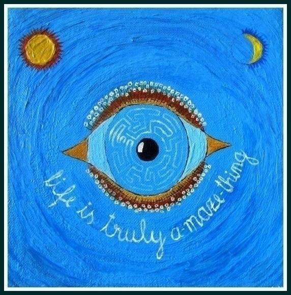 Eyes (acrylic fantasy - balints | ello