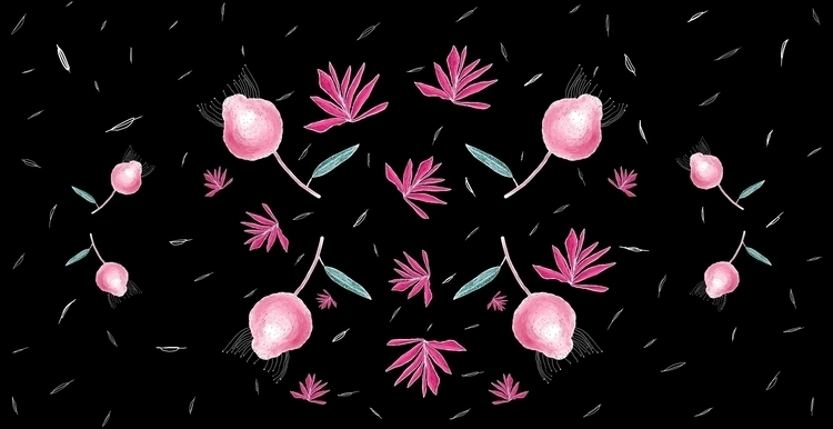 Pattern design plants find work - antoniadordea | ello
