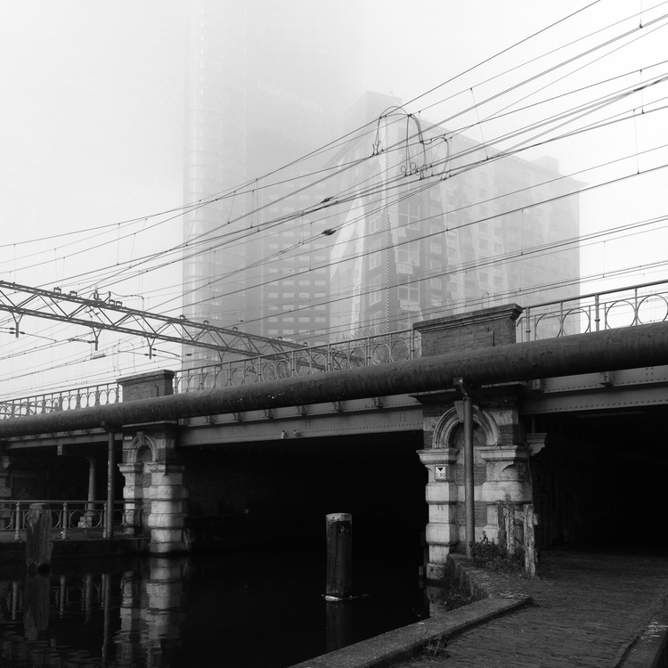 Walking work, passing railway c - frv | ello