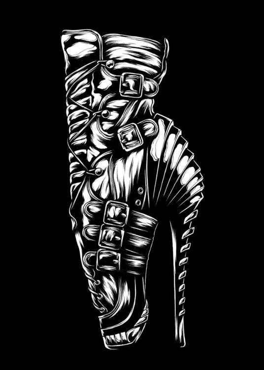illustration, blackandwhite - jamesjirat | ello