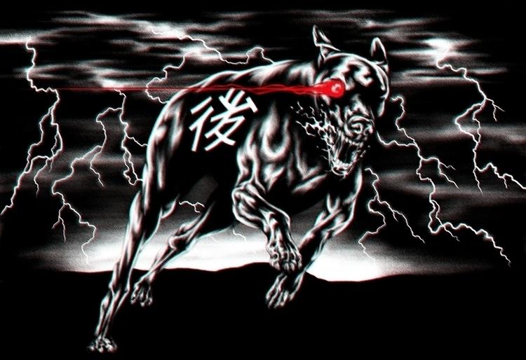 illustration, blackandwhite, dog - jamesjirat   ello